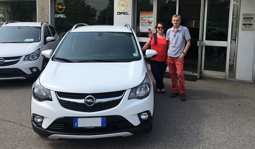 Opel Karl Rocs Anna e Pierluigi