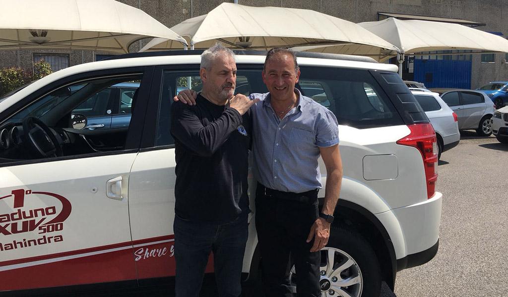 Xuv 500 con Francesco Salvi e Alessandro Cicognani